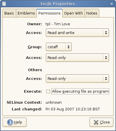 change write permission in linux